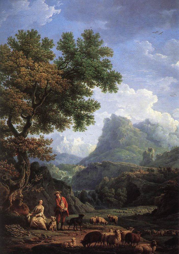 Shepherd in the Alps by Claude-Joseph Vernet
