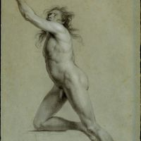 Study from Life: Nude Male by John Trumbull