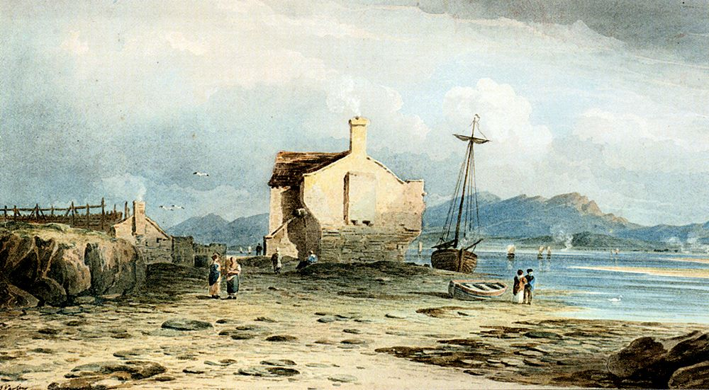 Tegwin Ferry With Snowdon In The Distance From Near Harlech North Wales by John Varley