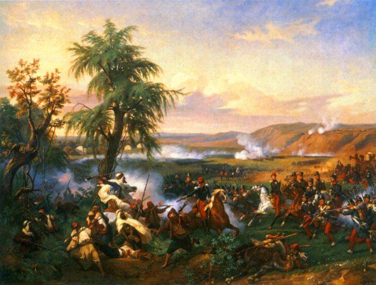 The Battle of Habra Algeria, in December 1835 Between Emir Abd El Kadar and the Duke of Orleans by Horace Vernet