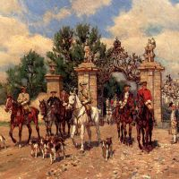 The Departure by Wilhelm Velten