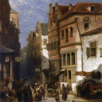 The Jewish Quarter by Salomon Leonardus Verveer