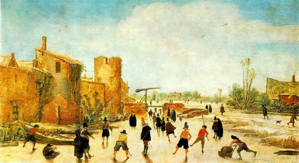 The Joy of Ice on the Wallgraben by Esaias van de Velde