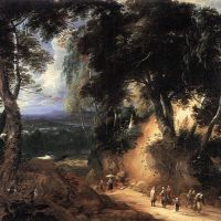 The Soignes Forest by Lodewijk de Vadder