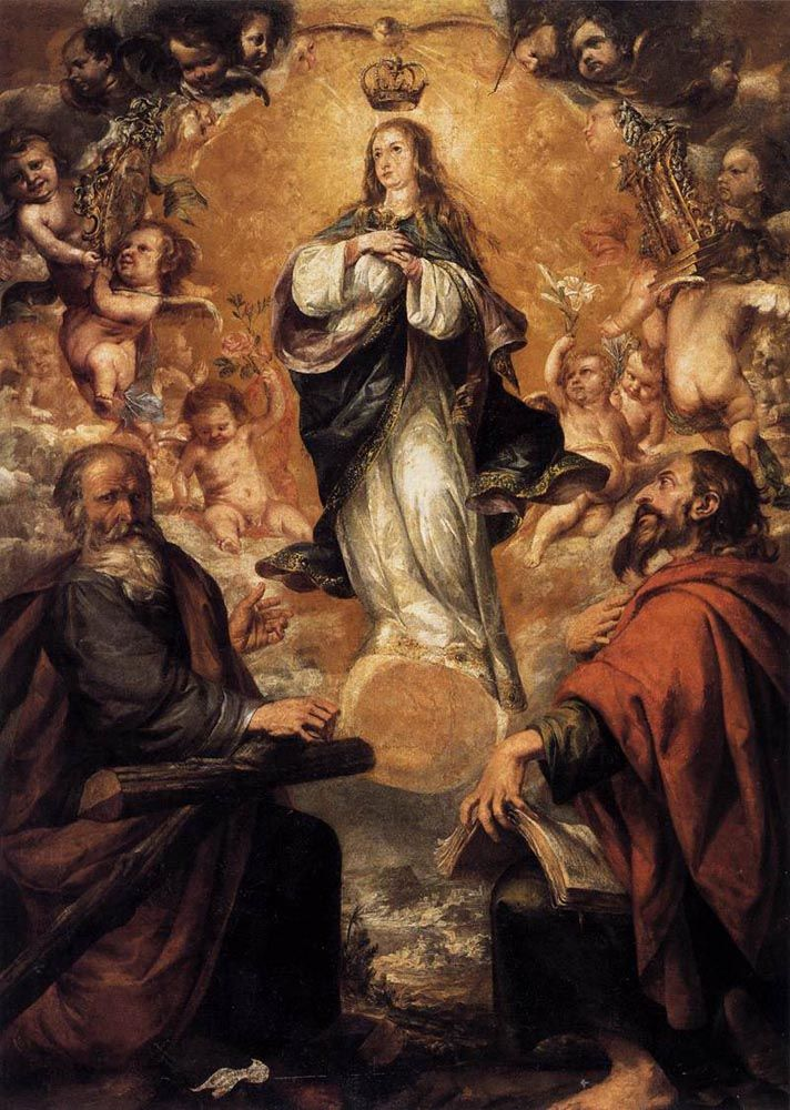 Virgin of the Immaculate Conception with Sts Andrew and John the Baptist by Juan de Valdes Leal