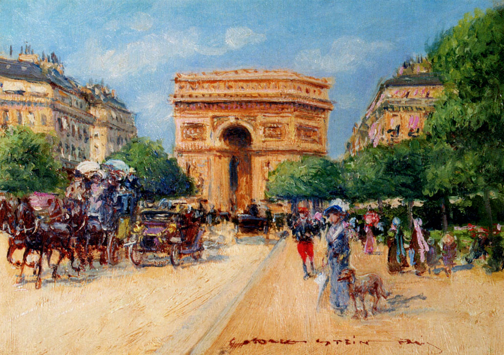 A Sunny Day In Paris by Georges Stein