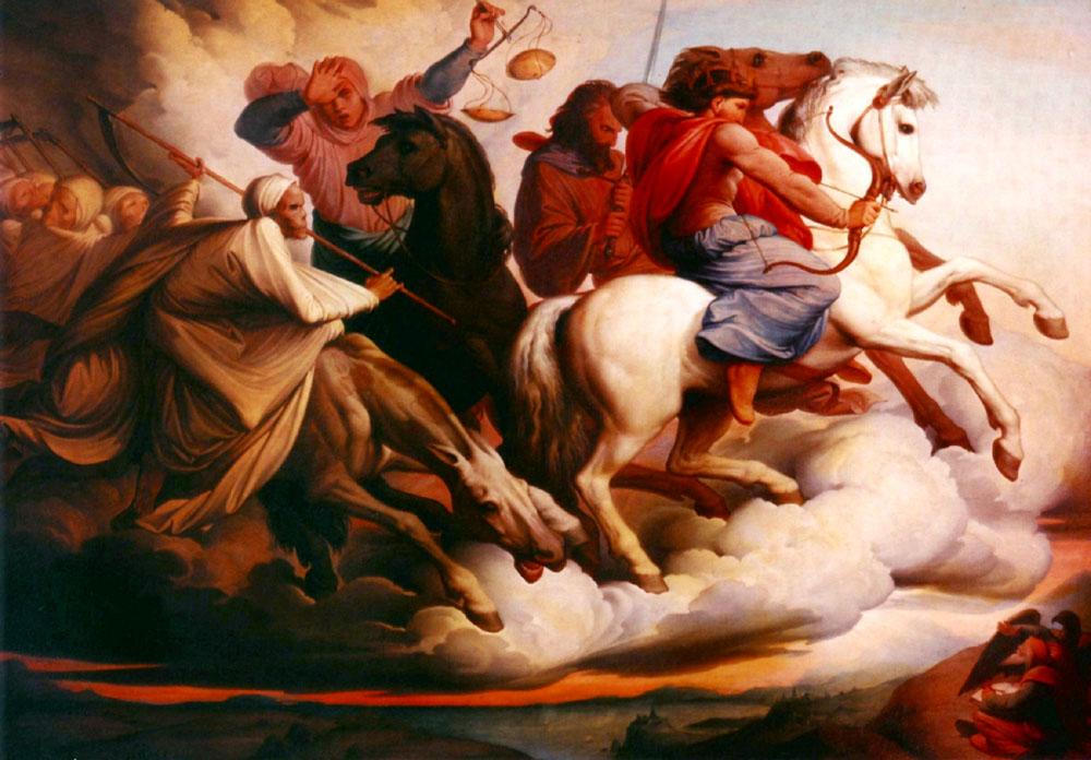 Four Horsemen of the Apocalypse by Edward von Steinle