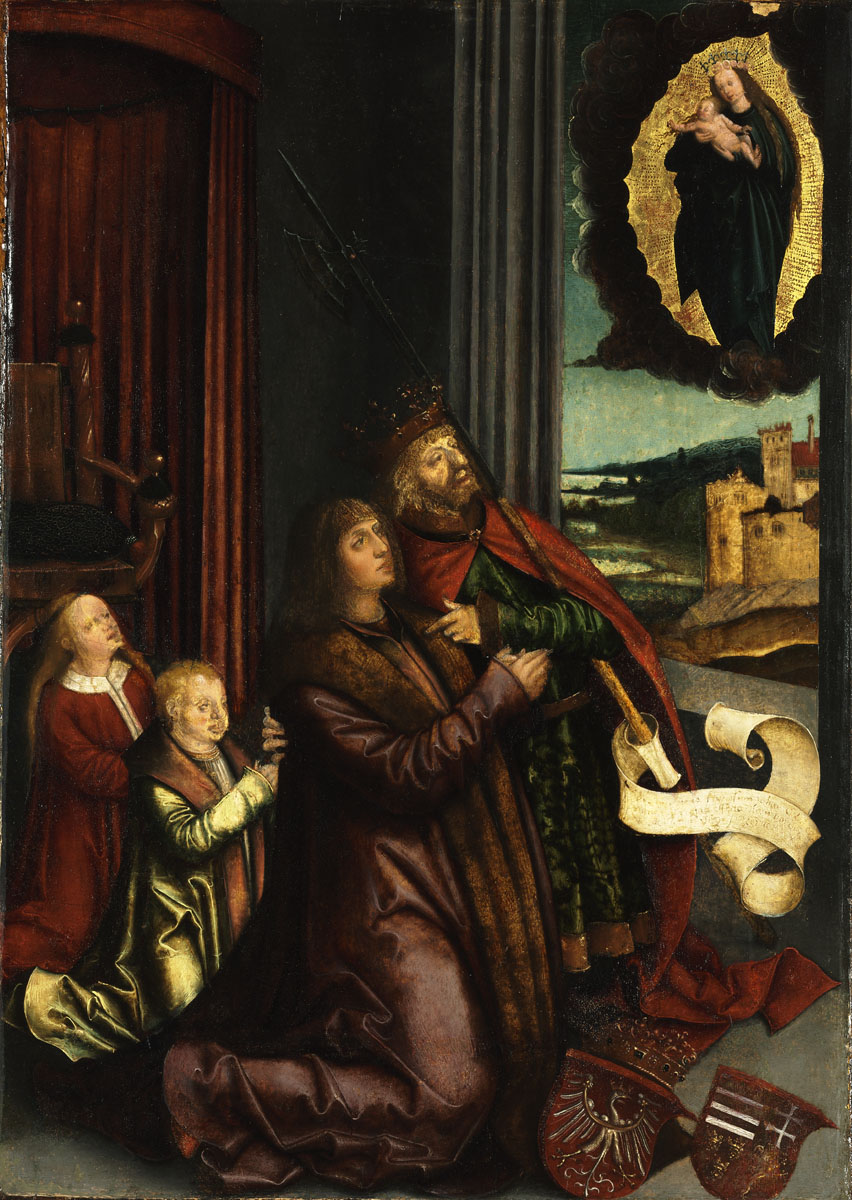 St Ladislas Presents Wladislav II and his Sons to the Virgin by Bernhard Strigel