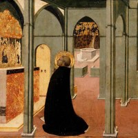 St Thomas Inspired by the Dove of the Holy Ghost by Sassetta
