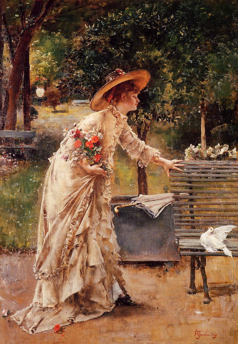 Afternoon in the Park by Alfred Stevens