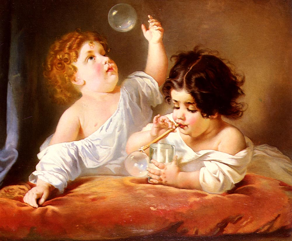 Blowing Bubbles by Henri Guillaume Schlesinger