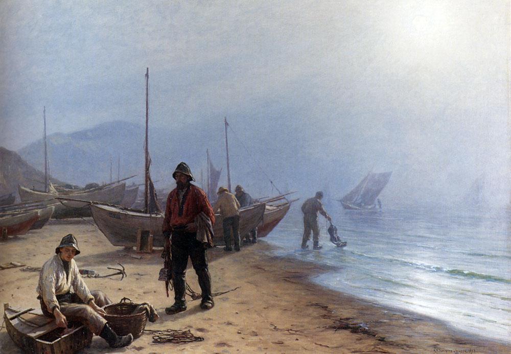 Bringing Home The Catch by Niels Frederick Schiott Jensen