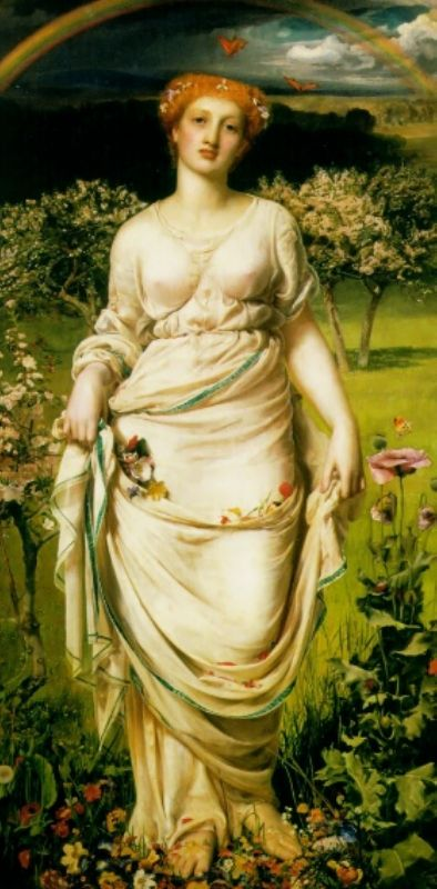 Gentle Spring by Anthony Frederick Sandys