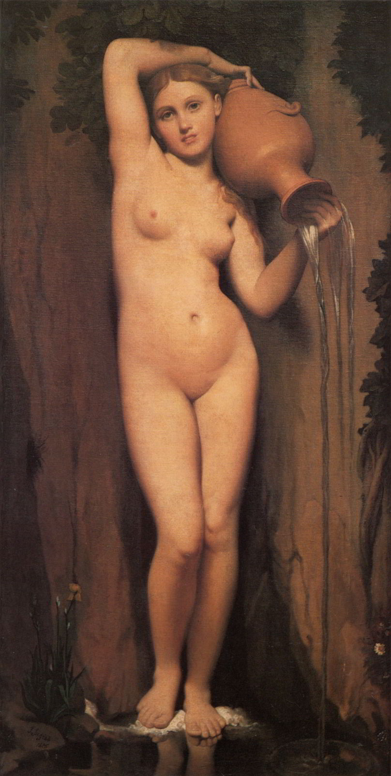 La Source by Jean Auguste Dominique Ingres