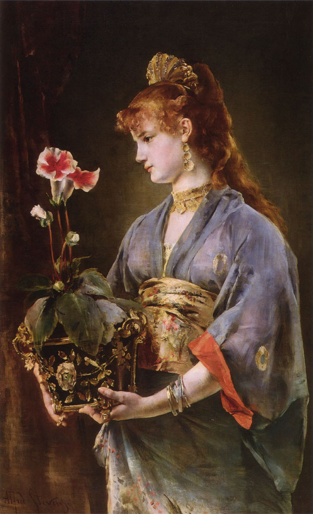 Portrait of a Woman by Alfred Stevens