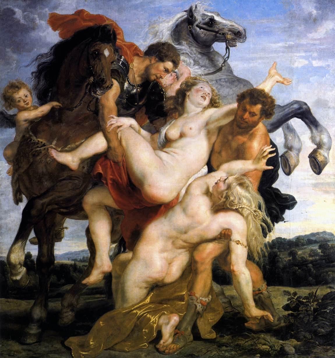 Rape of the Daughters of Leucippus by Peter Paul Rubens