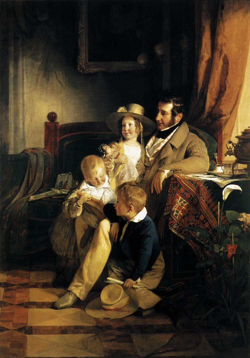 Rudolf von Arthaber with his Children by Friedrich von Amerling