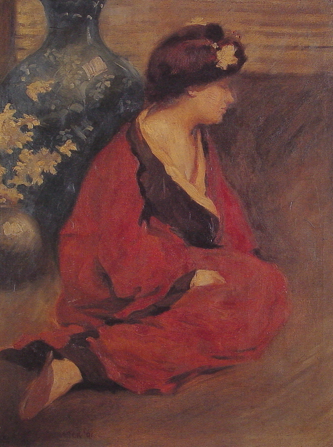 Seated Woman in Red by William Chadwick