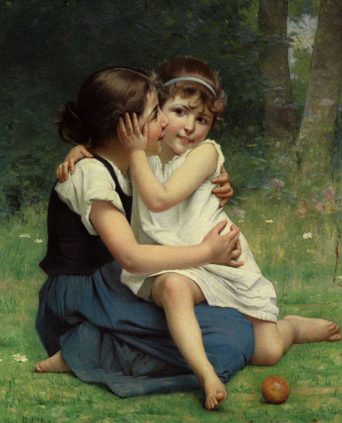 Sisterly Love by Francois Alfred Delobbe