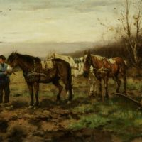 Tethering the Plough Horses by Johan Frederik Cornelis Scherrewitz