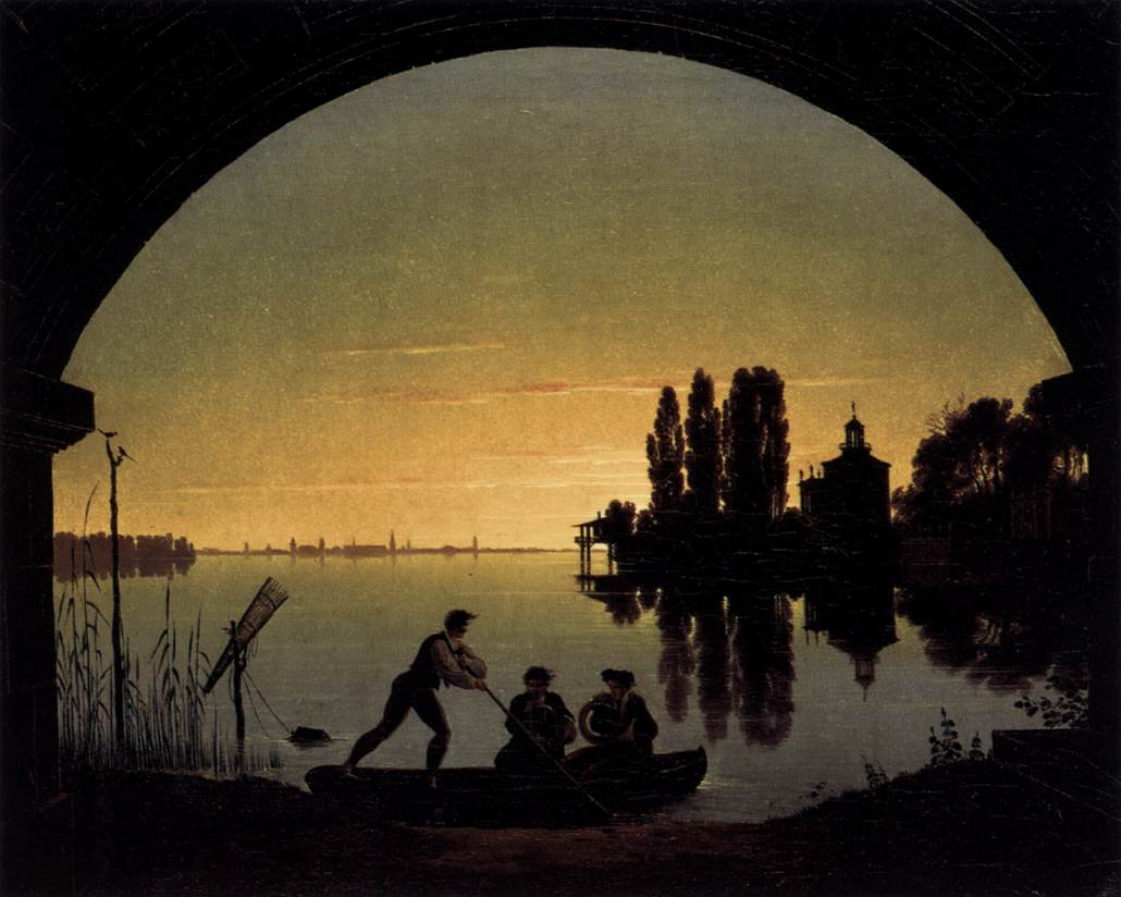 The Banks of the Spree near Stralau by Karl Friedrich Schinkel