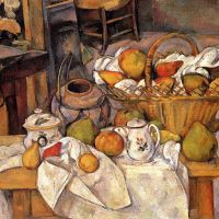 The Kitchen Table by Paul Cezanne