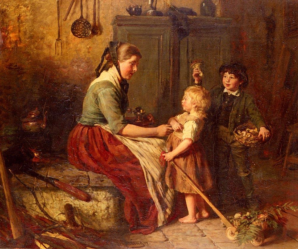 The Mushroom Gatherers by Felix Schlesinger