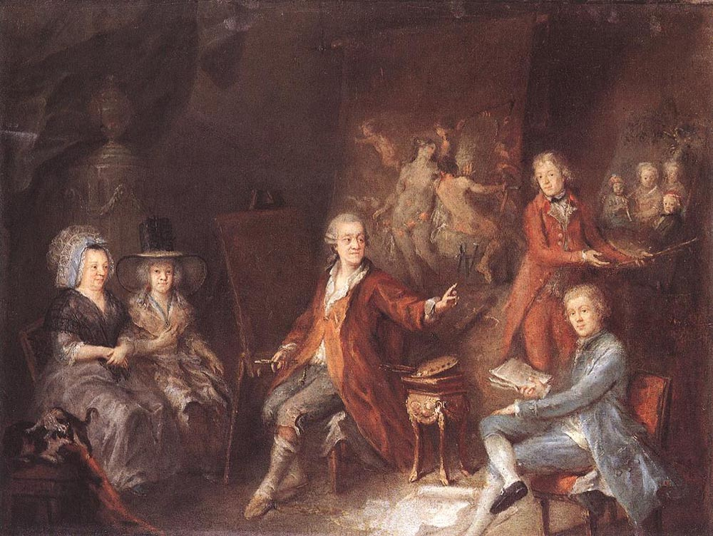 The Painter and his Family by Martin Johann Schmidt