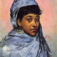 Young Woman In Blue by Julius LeBlanc Stewart