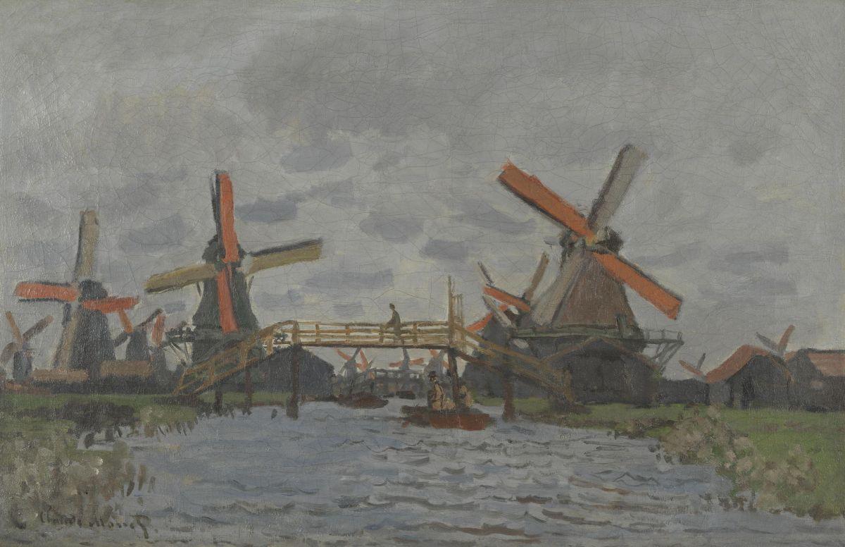 A Windmill at Zaandam by Claude Monet