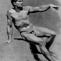 Male Nude by Pierre-Paul Prud'hon