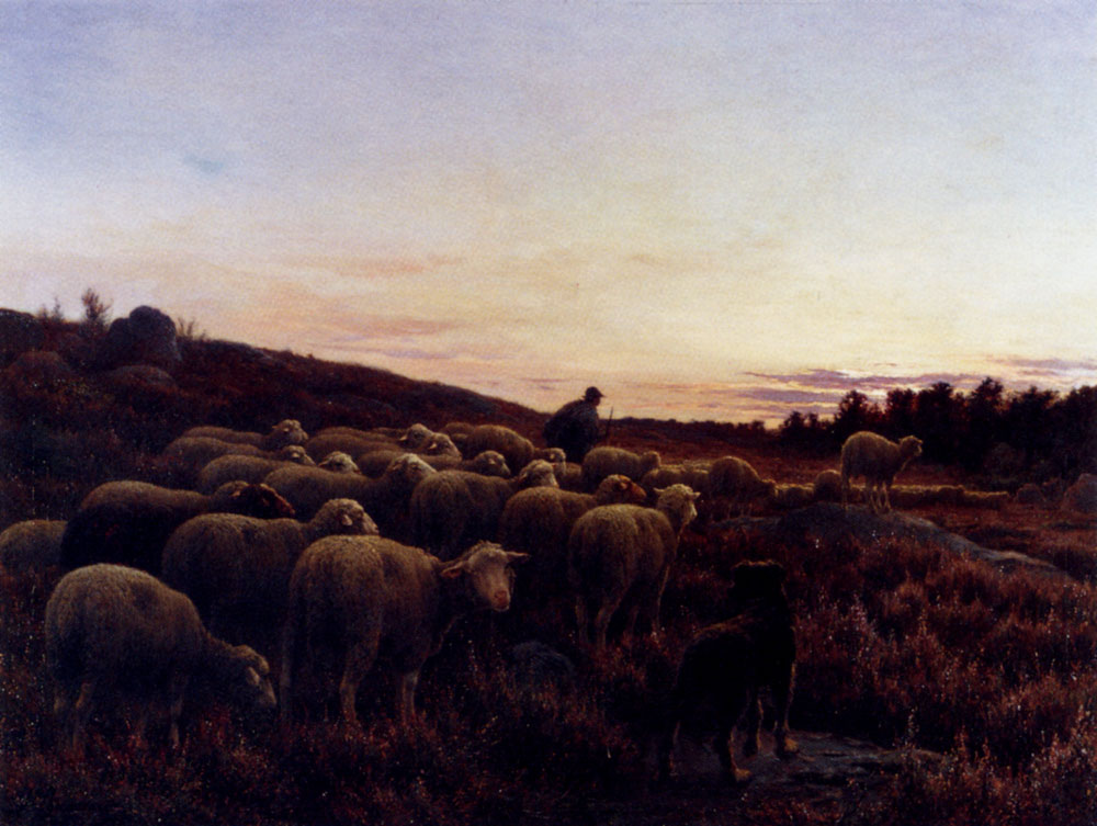 The Return Of The Herd by Jean Ferdinand Chaigneau