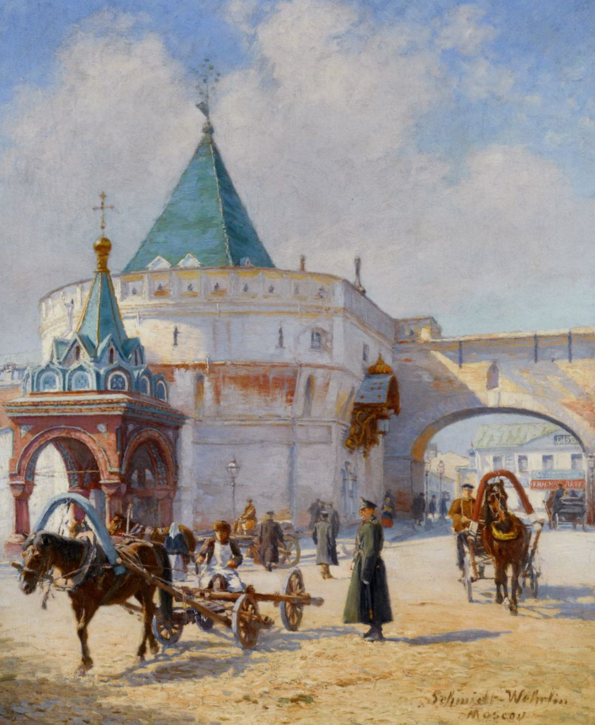 View of Moscow by Emile Schmidt-Wehrlin