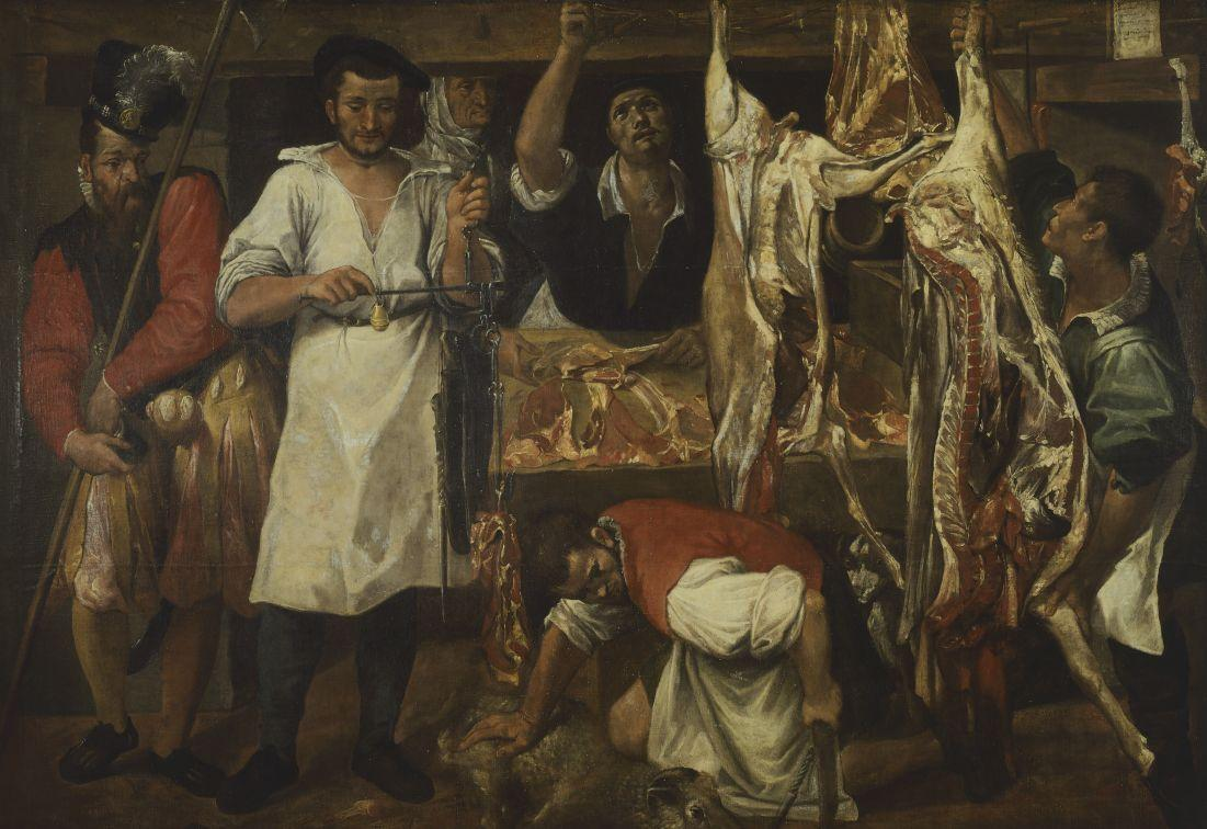 Butcher's Shop by Annibale Carracci