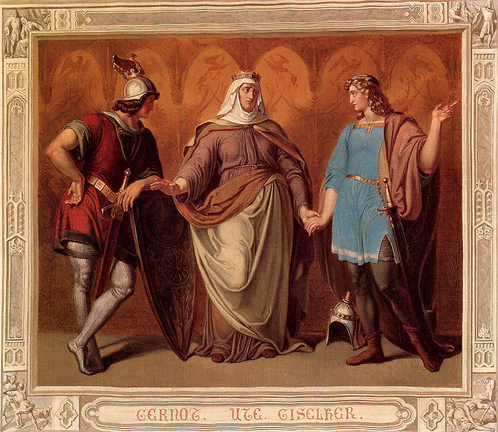 Drei Figuren aus der Nibelungensage by Hans Veit Friedrich Schnorr von Carolsfeld