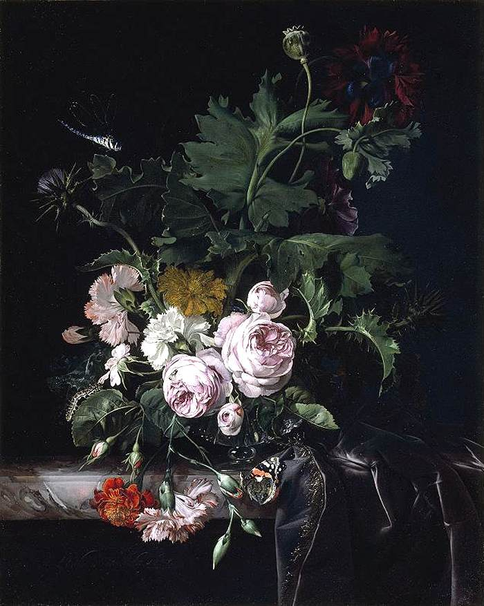 Flower Still-Life by Willem van Aelst