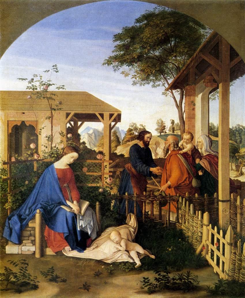 The Family of St John the Baptist Visiting the Family of Christ by Julius Schnorr von Carolsfeld