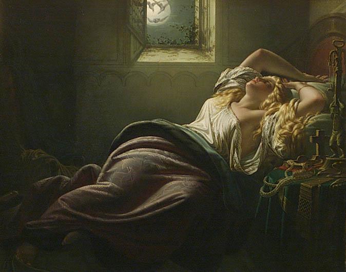 Kriemhild's Dream of the Falcon by Heinrich Schwemminger