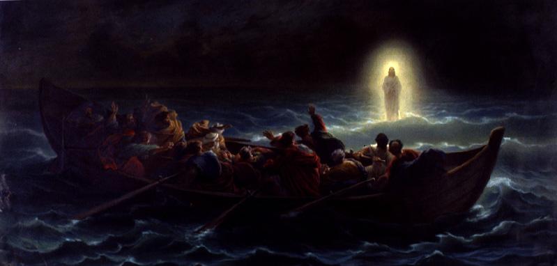 Le Christ marchant sur la mer by Charles Francois Jalabert