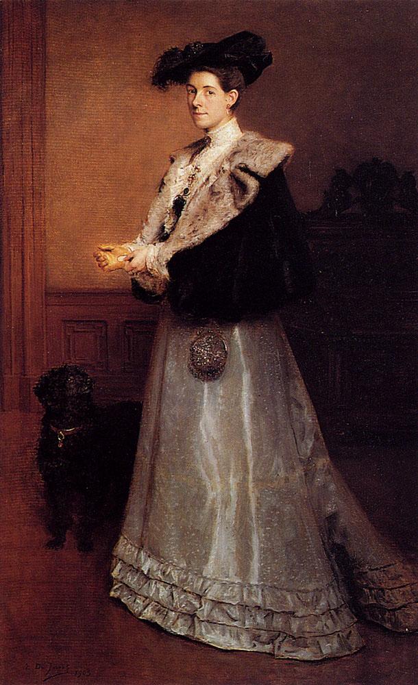 Portrait Of A Lady by Edouard De Jans