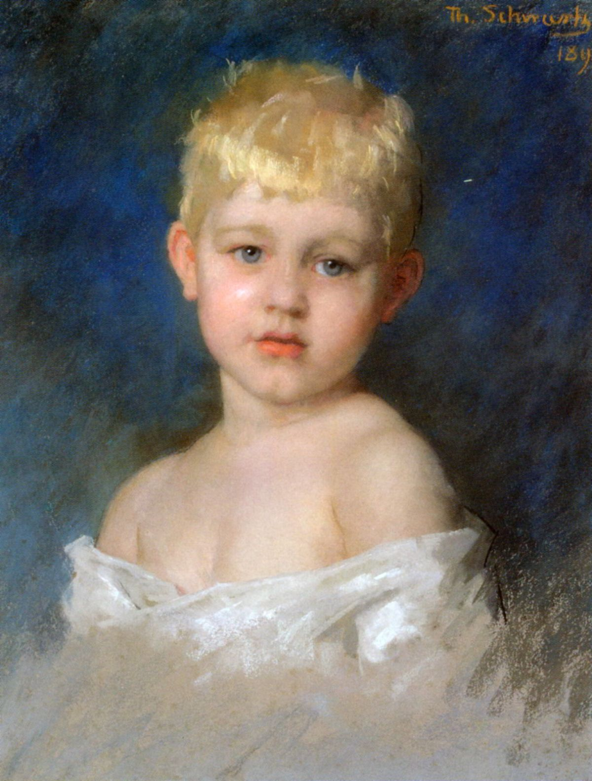 Portrait of a Young Boy by Therese Schwartze
