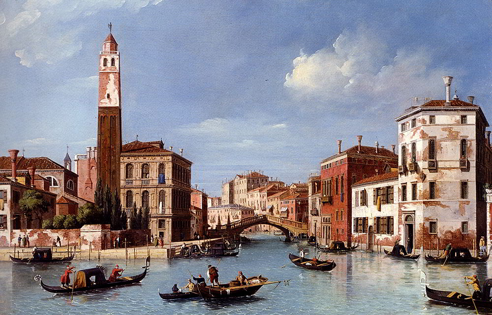View Of The Entrance To The Cannareggio Canal With The Church Of San Geremia And The Palazzo Labia, Venice by William James