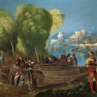 Aeneas and Achates on the Libyan Coast by Dosso Dossi
