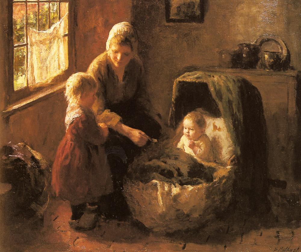 Baby's Mealtime by Bernard Jean Corneille Pothast