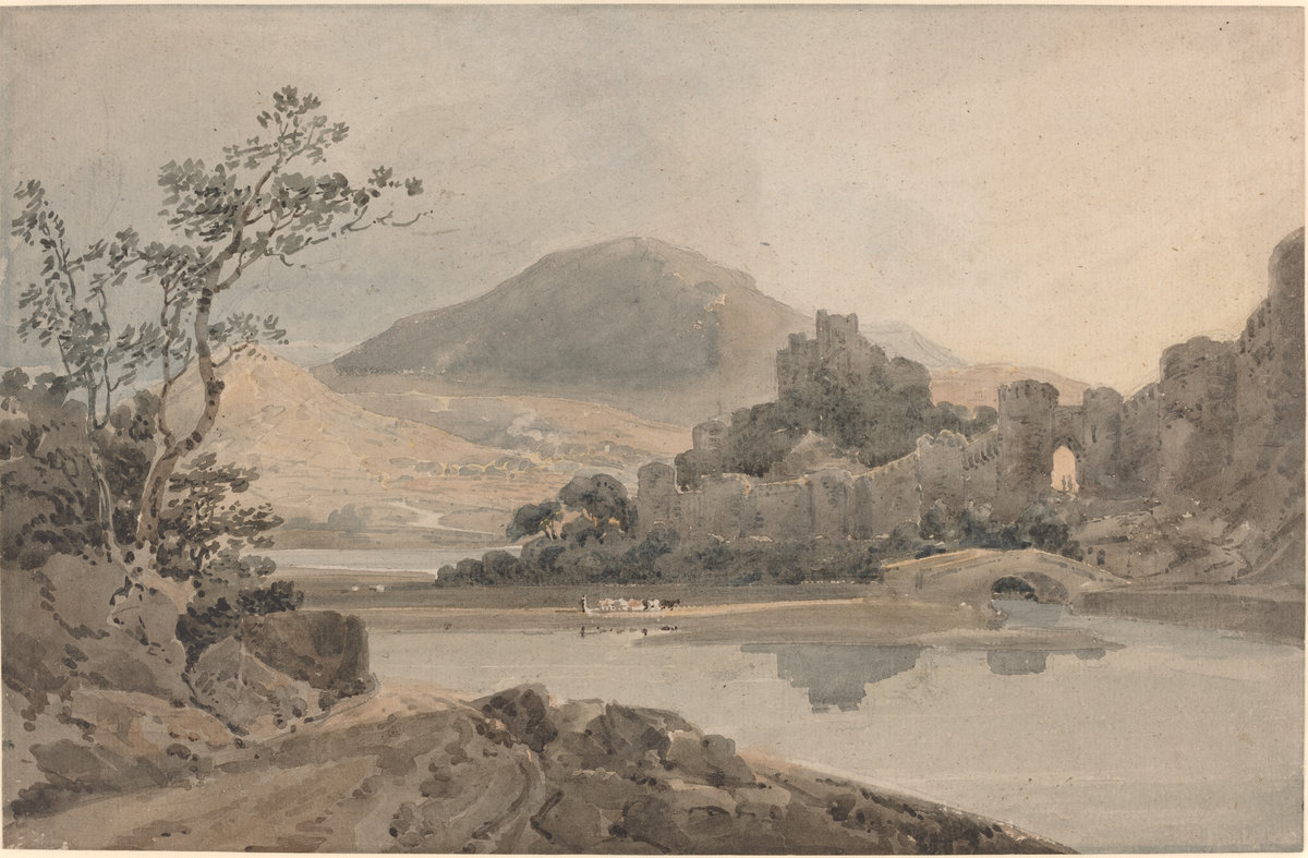 Castle Conway (after Sir George Beaumont) by Thomas Girtin