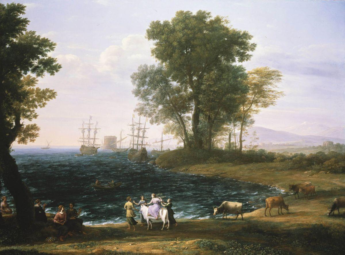 Coast Scene with the Rape of Europa by Claude Lorrain