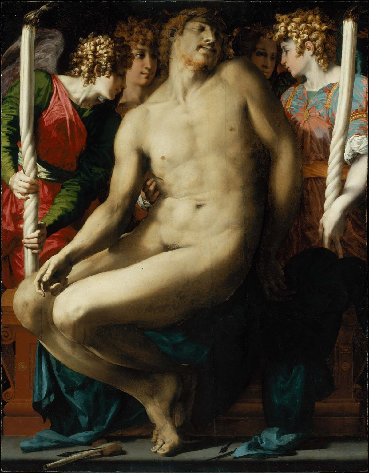 Dead Christ with Angels by Rosso Fiorentino