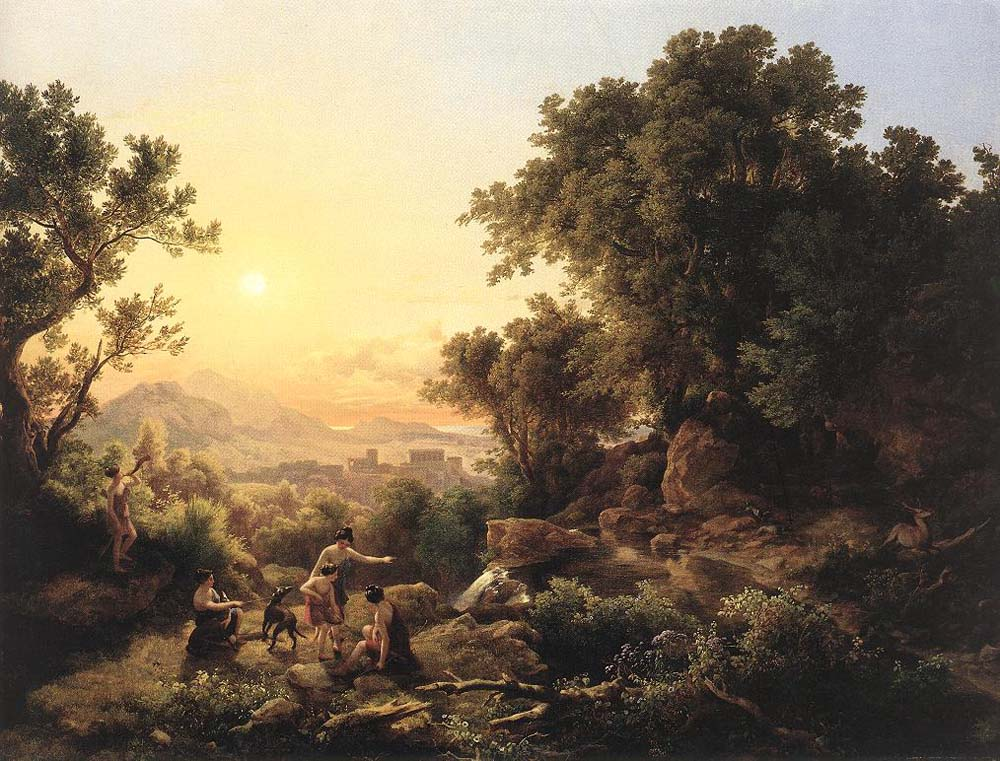 Diana at the Hunt Hunting Nymphs by Karoly the Elder Marko