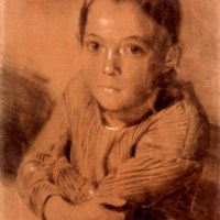 Drawing of a Boy by Adolph von Menzel