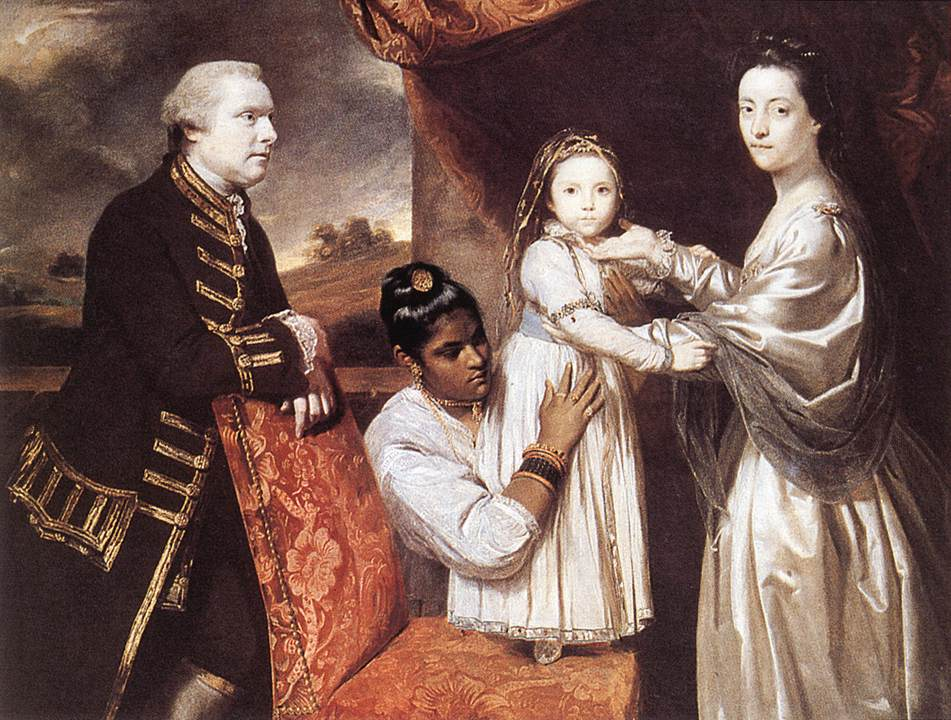 George Clive and his Family with an Indian Maid by Joshua Reynolds